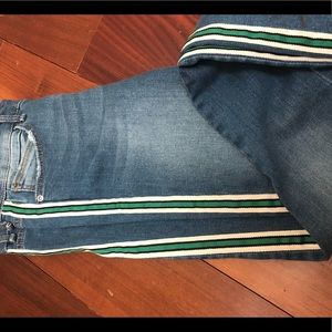 Zara side stripe jeans worn once!!!!